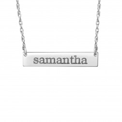 Bar Name Necklace (6x32mm)