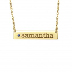 Birthstone Bar Name Necklace (6x32mm)