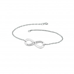 Couples Infinity Bracelet (12x30mm)