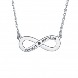 Couples Infinity Necklace 10x25mm