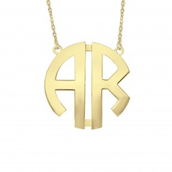 Block 2 Initial Monogram Necklace