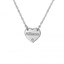 Mini Heart Diamond Accent Necklace