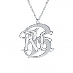 Mens Monogram Necklace