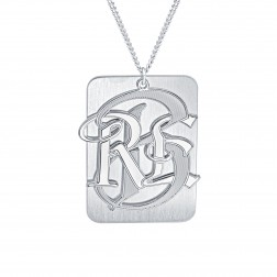 Mens Dogtag Monogram Necklace