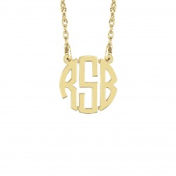 Mini Block Monogram Necklace