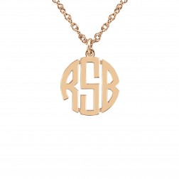 Mini Block Monogram Pendant