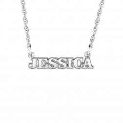 Mini Fashion Name Necklace 4x21.5mm
