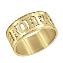 Name Block Mens Ring 8.8mm