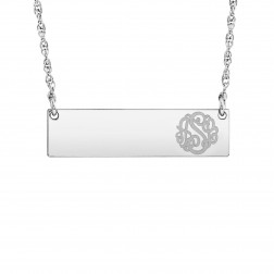 Bar Initial Monogram Necklace 8x30mm