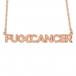 FCancer Logo Name Necklace