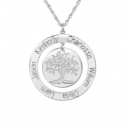 Tree of Life With Six Names Family Pendant (24mm)
