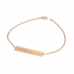 """Mappable Moments"" GPS Coordinates Bar Bracelet (6x34mm)"