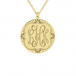 Decorated Traditional Monogram Pendant (23mm)