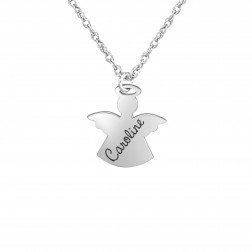 Kids Name Angel Pendant