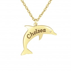 Kids One Name Dolphin Pendant