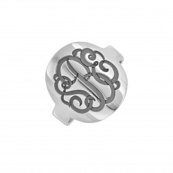 Recessed Monogram Ring (18mm)