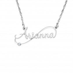 Diamond Personalized Name Necklace (10x30mm)
