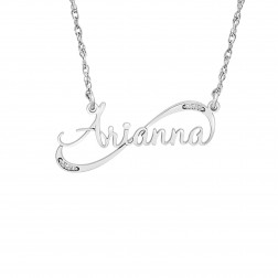Diamond Accent Personalized Name Necklace (32.5x14mm)