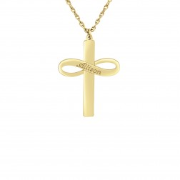 Infinity Cross Name Pendant (30x23mm)