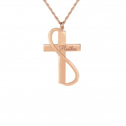 Cross Name Pendant (35x20mm)