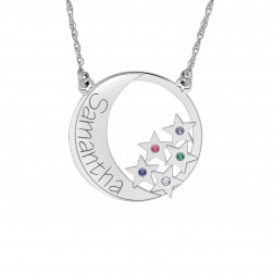 Love You to the Moon Birthstone Pendant (28mm)
