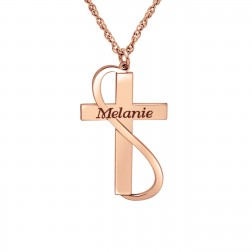 Cross Name Pendant (28x16mm)