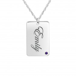 Birthstone Name Dog Tag (23x15mm)