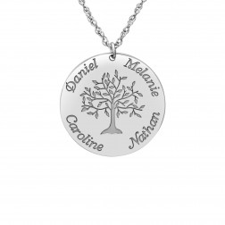 Tree of Life Round Family Pendant (24mm)