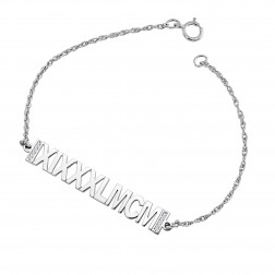 Diamond Roman Numeral Bracelet (6x38mm)
