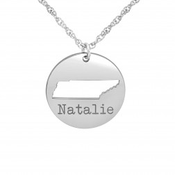 Home Sweet Home Cutout State Name Disc Pendant (18mm)