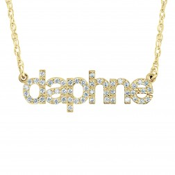 Fashion Lowercase Diamond Nameplate