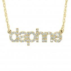 Fashion Lowercase Diamond Nameplate