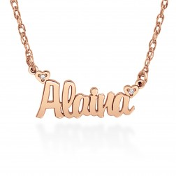 Diamond Accent Personalized Name Necklace (10.2x21mm)