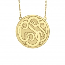 Classic Recessed Monogram Necklace