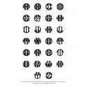 Block Recessed Monogram Letters