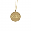 Greek Letters Disc Pendant 20 mm Personalized Jewelry