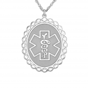 Medical and Health Alert Pendant 25 x 30 mm Personalized Jewelry