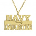 Navy Personalized Pendant 14 x 24 mm Personalized Jewelry