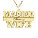 Marine Personalized Pendant 16 x 29 mm Personalized Jewelry