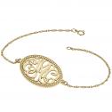 Classic Bordered Monogram Bracelet 18 x 25 mm Personalized Jewelry