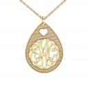 Classic Monogram Pendant 30 mm Personalized Jewelry