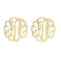 Classic Monogram Stud Earrings