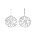Alison and Ivy Classic Bordered Monogram Leverback Earrings (25mm)