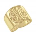 Classic Recessed Monogram Ring (18mm)