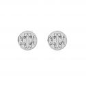Interlocking Monogram Stud Earrings 10 mm Personalized Jewelry