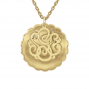 Alison and Ivy Two Piece Concave Monogram Pendant (30mm)