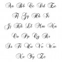 Cursive Name Necklace 11.5x36mm Personalized Jewelry Font Chart