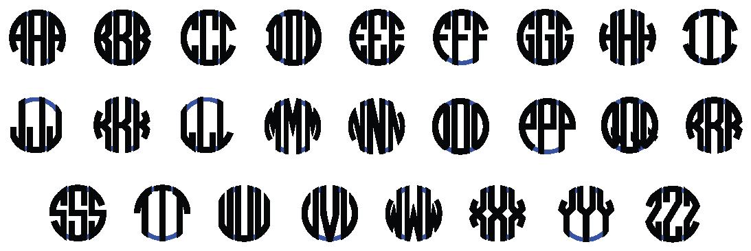 Block Monogram Font