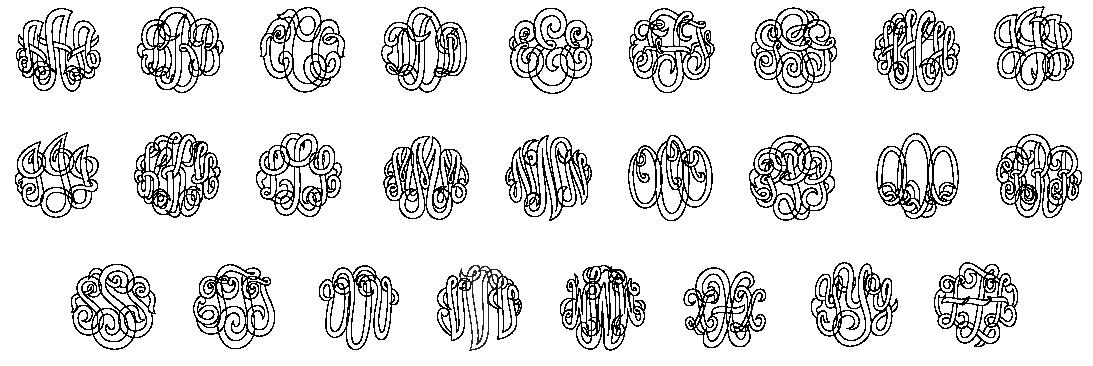 Classic Script Monogram Font
