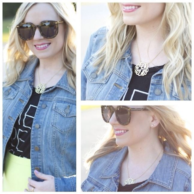 Kristin Brophy Monogram Necklace